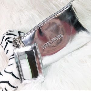 Bobbi Brown Bag Silver Wristlet Makeup Bag